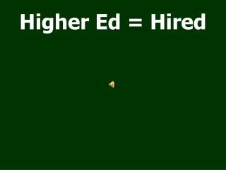 Higher Ed = Hired