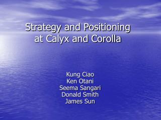 Strategy and Positioning at Calyx and Corolla