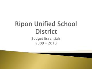 Ripon Unified School District