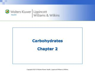 Carbohydrates Chapter 2