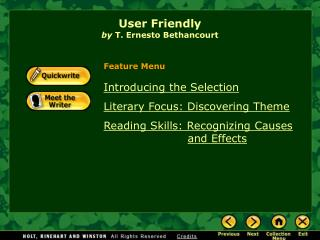 User Friendly by  T. Ernesto Bethancourt