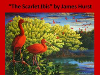 """The Scarlet Ibis"" by James Hurst"