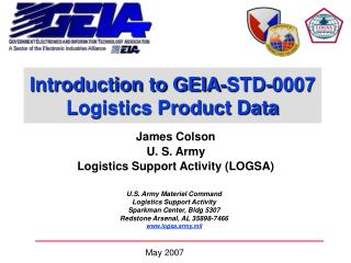 Introduction to GEIA-STD-0007 Logistics Product Data