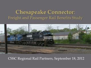 CSSC Regional Rail Partners, September 18, 2012