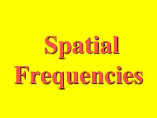 Spatial Frequencies