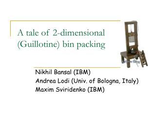 A tale of 2-dimensional  (Guillotine) bin packing