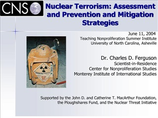 Nuclear Terrorism: Assessment and Prevention and Mitigation Strategies