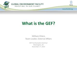 What is the GEF?