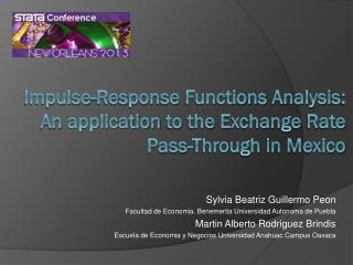 Impulse-Response  Functions Analysis :  An application to the  Exchange  Rate  Pass- Through  in  Mexico