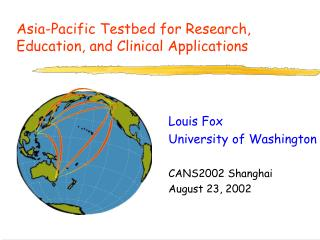 Asia-Pacific Testbed for Research, Education, and Clinical Applications