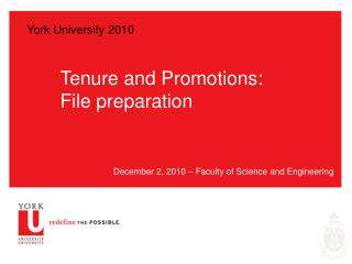 Tenure and Promotions: File preparation