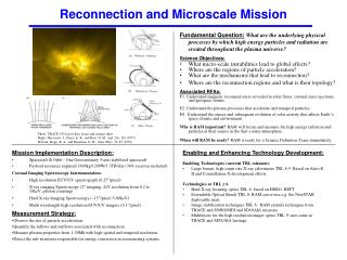 Reconnection and Microscale Mission