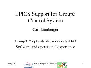 EPICS Support for Group3 Control System