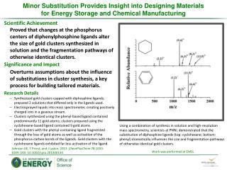 Minor Substitution Provides Insight into Designing  Materials  for  Energy Storage and Chemical Manufacturing