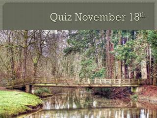 Quiz November 18 th