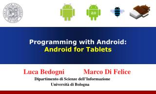 Programming with Android:  Android for Tablets
