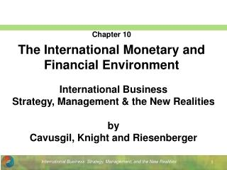 International Business Strategy, Management & the New Realities by  Cavusgil, Knight and Riesenberger