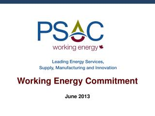 Working Energy Commitment
