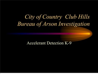 City of Country  Club Hills Bureau of Arson Investigation