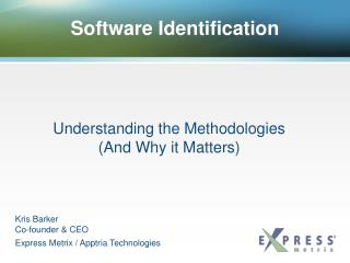 Software Identification