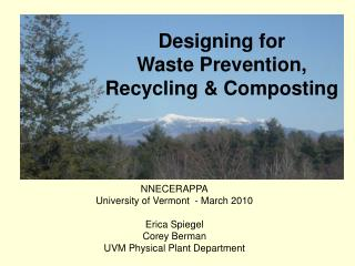 Designing for  Waste Prevention,  Recycling & Composting