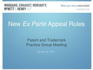 New  Ex Parte  Appeal Rules