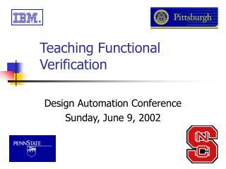 Teaching Functional Verification