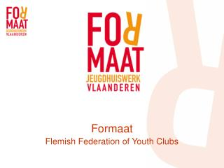 Formaat Flemish Federation of Youth Clubs