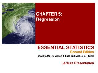 CHAPTER 5: Regression