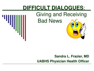 DIFFICULT DIALOGUES :            Giving and Receiving                 Bad News