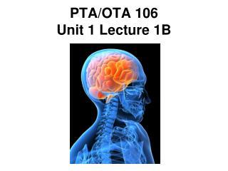 PTA/OTA 106 Unit 1 Lecture 1B