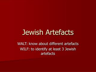 Jewish Artefacts