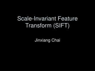 Scale-Invariant Feature Transform (SIFT)