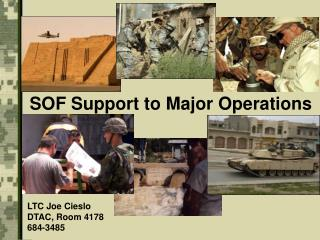 SOF Support to  Major Operations