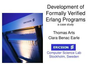 Development of  Formally Verified  Erlang Programs a case study
