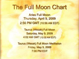 The Full Moon Chart