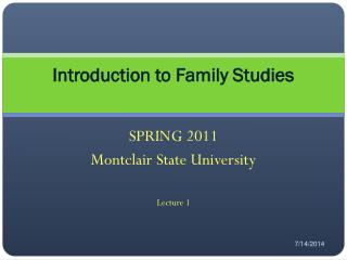 Introduction to Family Studies