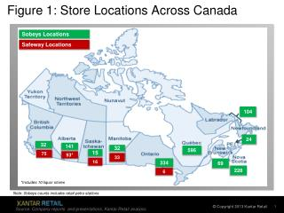Figure 1: Store Locations Across Canada