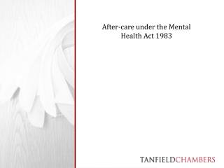 After-care under the Mental Health Act 1983
