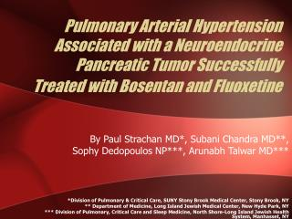 Pulmonary Arterial Hypertension Associated with a Neuroendocrine Pancreatic Tumor Successfully Treated with Bosentan and