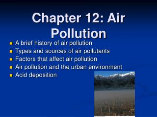 Chapter 12: Air Pollution