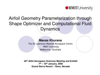 Airfoil Geometry Parameterization through Shape Optimizer and Computational Fluid Dynamics