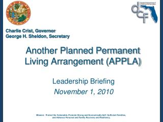 Another Planned Permanent Living Arrangement (APPLA)