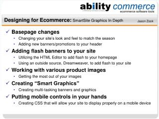 Designing for Ecommerce: SmartSite Graphics In Depth