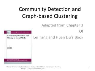 Community Detection and Graph-based Clustering