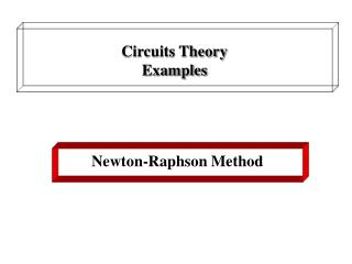 Circuits Theory Examples