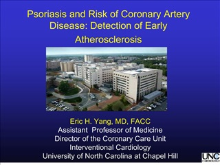 Psoriasis and Risk of Coronary Artery Disease: Detection of Early Atherosclerosis