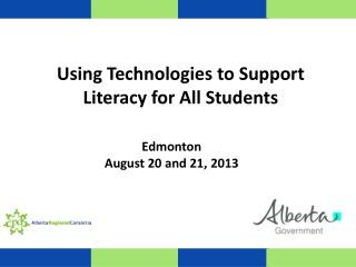 Using Technologies to Support Literacy for All Students