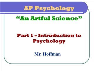 AP Psychology  An Artful Science