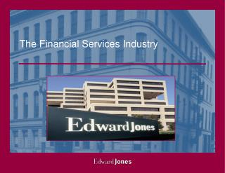 The Financial Services Industry